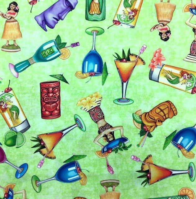 27730-H, Quilting Treasures, Postcard Paradise, Island Pleasures,  Lime
