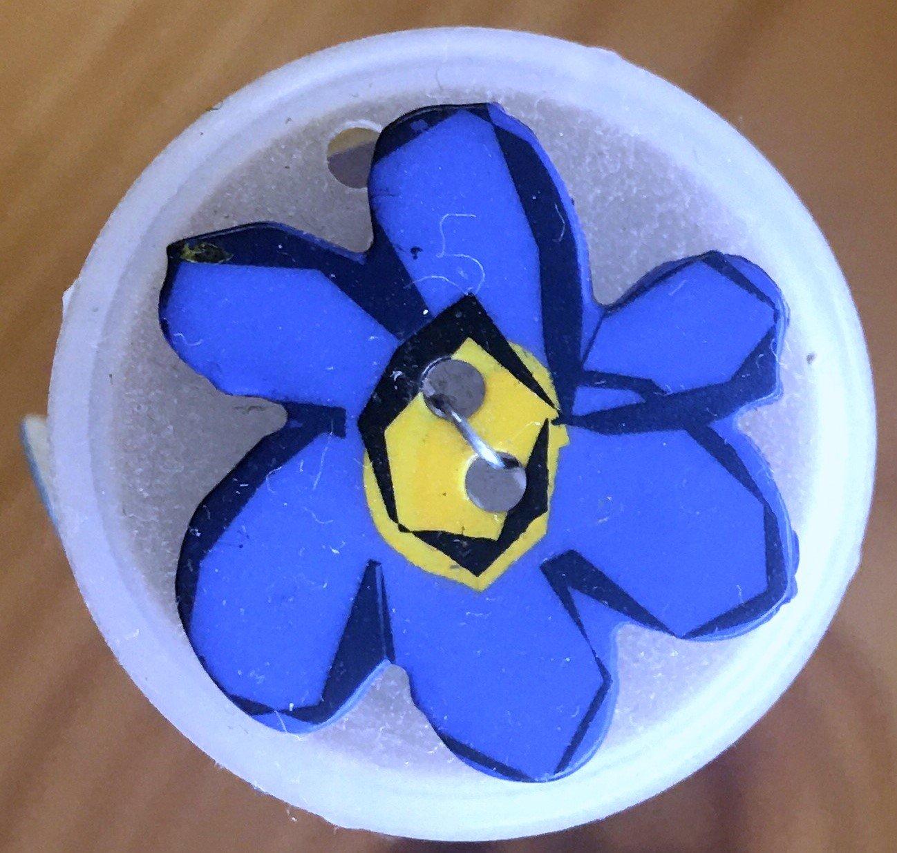 280836, Dill Buttons 20 mm Flower Blue (7/8)