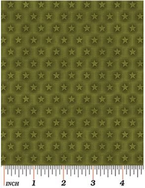 2866-40 Moose on the Loose Stars Green