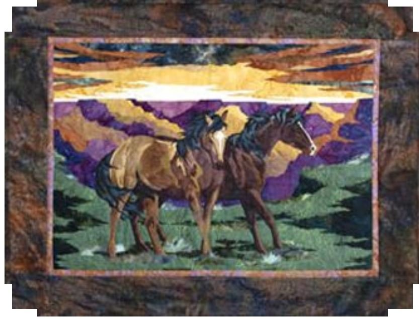 3001TW-WC07 Bigfork Bay Cotton Co Wild Horse Canyon Fabric Kit with Pattern
