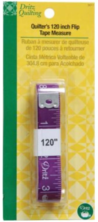 3011D Dritz Quilter's 120 Flip Tape Measure