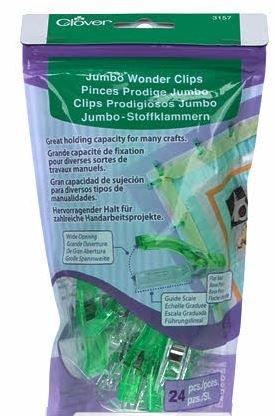 3157CV Clover Jumbo Wonder Clips 24 count