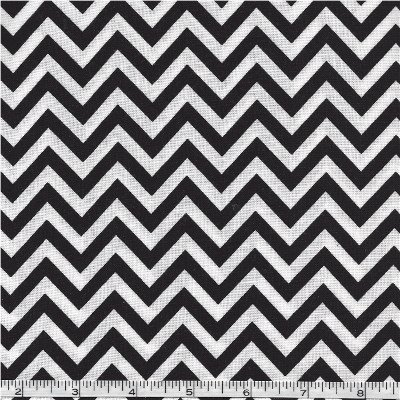 32217-12 Moda Half Moon Chevron Black & White