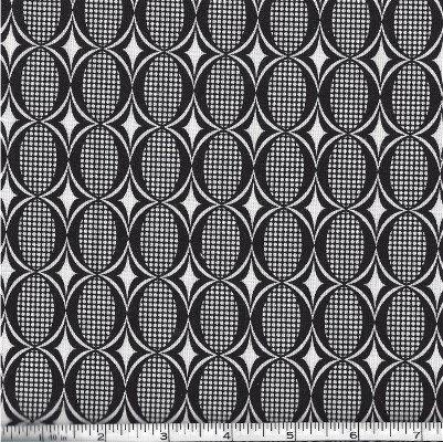 32354-11 Moda White and Black Geometric design