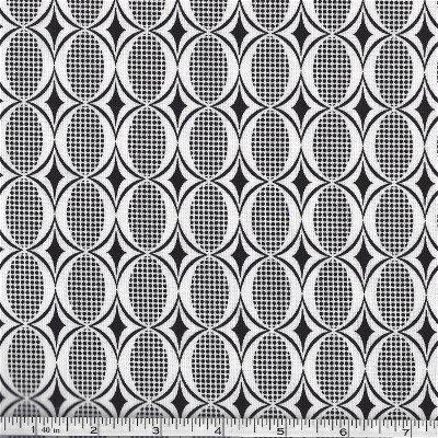 32354-12 Moda Black and White Geometric design