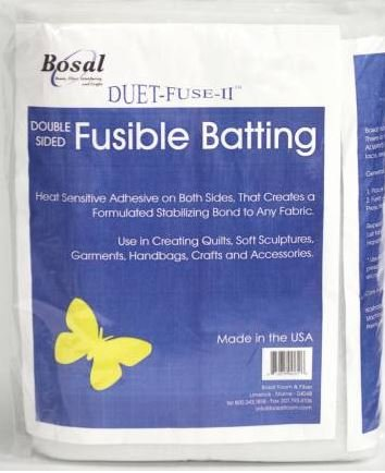 3252B Bosal Duet Fuse II Double Sided Fusible Batting 45in x 25yds White