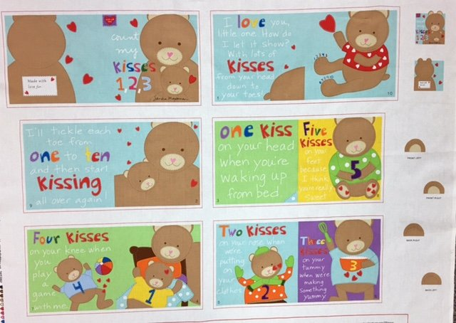 3365P-1 Huggable Loveable Soft Book Kisses