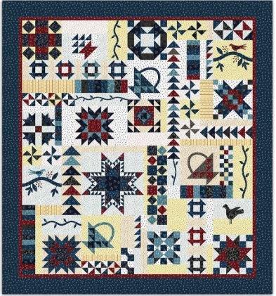 349VS-2016 Paintbrush Studio Vintage Sampler Fabric & Pattern