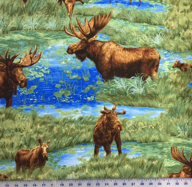 3652-8334-2 Exclusively Quilters Moose Lake All Over