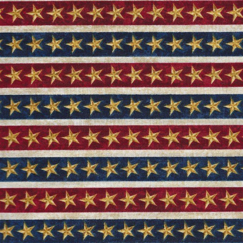39196-24 Northcott Star and Stripes Border Stars