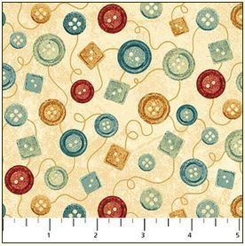 39358-11 Northcott A Stitch in Time Cream Buttons