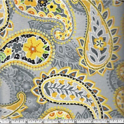 3978-60785-85 Exclusively Quilters Sundance Gray with Yellow Paisley