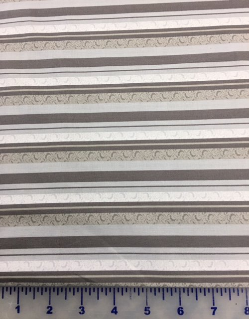 3999-60833-80 Exclusively Quilters Cotillian Dark and Light Gray Stripes