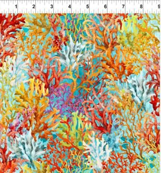 3CAL-2 In the Beginning Calypso Coral Reef Teal
