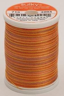 713-4004 Sulky Blendables 100% Cotton 330 yrds 12 wt Mercerized  Golden Flame