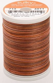 713-4011 Sulky Blendables 100% Cotton 330 yrds 12 wt Mercerized  Milk Chocolate