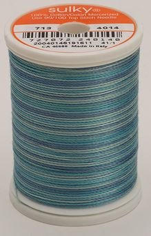 713-4014 Sulky Blendables 100% Cotton 330 yrds 12 wt Mercerized  Ocean Blue