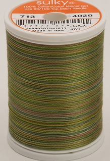713-4020 Sulky Blendables 100% Cotton 330 yrds 12 wt Mercerized  Moss Medley
