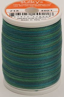 713-4021 Sulky Blendables 100% Cotton 330 yrds 12 wt Mercerized  Truly Teal