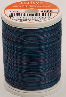 713-4022 Sulky Blendables 100% Cotton 330 yrds 12 wt Mercerized  Midnight Sky