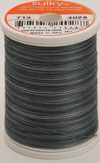 713-4028 Sulky Blendables 100% Cotton 330 yrds 12 wt Mercerized  Storm Clouds