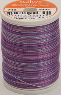 713-4032 Sulky Blendables 100% Cotton 330 yrds 12 wt Mercerized  Iris