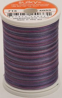 713-4033 Sulky Blendables 100% Cotton 330 yrds 12 wt Mercerized  Grape Wine