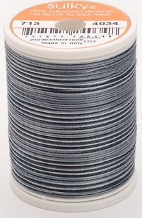713-4034 Sulky Blendables 100% Cotton 330 yrds 12 wt Mercerized  Soft Blacks