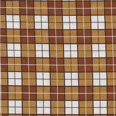 60971-9 Exclusively Quilters Puppy Love Rust Plaid