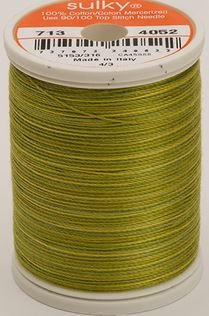 713-4052 Sulky Blendables 100% Cotton 330 yrds 12 wt Mercerized  Lime Bank