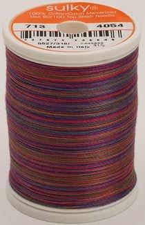 713-4054 Sulky Blendables 100% Cotton 330 yrds 12 wt Mercerized  Royal Sampler