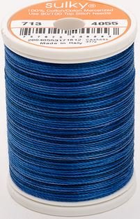 713-4055 Sulky Blendables 100% Cotton 330 yrds 12 wt Mercerized  Royal Navy