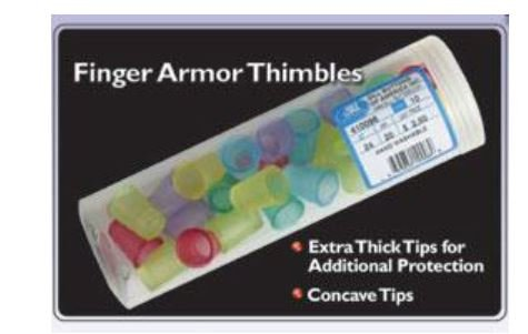 400050 Dill Finger Armor Thimbles 11/16 Small