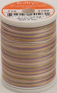 713-4103 Sulky Blendables 100% Cotton 330 yrds 12 wt Mercerized  Pansies