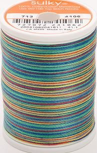 713-4106 Sulky Blendables 100% Cotton 330 yrds 12 wt Mercerized  Primaries