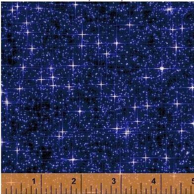42564A-1 Windham Fabrics  Interstellar by Whistler Studios Navy Blue Stars