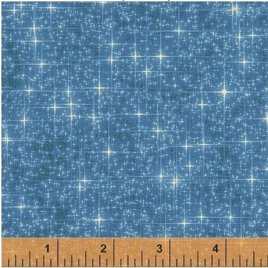 42564A-4 Windham Fabrics  Interstellar by Whistler Studios Medium Blue Stars