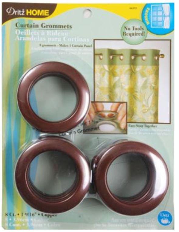 44370 Dritz 1-9/16 Curtain Grommets Copper (8 per set)