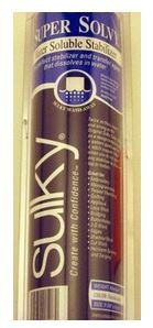 486-12 Sulky Stabilizer Solvy Water Soluble 12 by 9.5 yrds Translucent