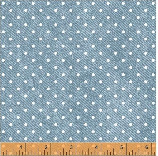 50926-3 Windham Fabrics Gina 1/8in Pin Dot Washed Denim Blue