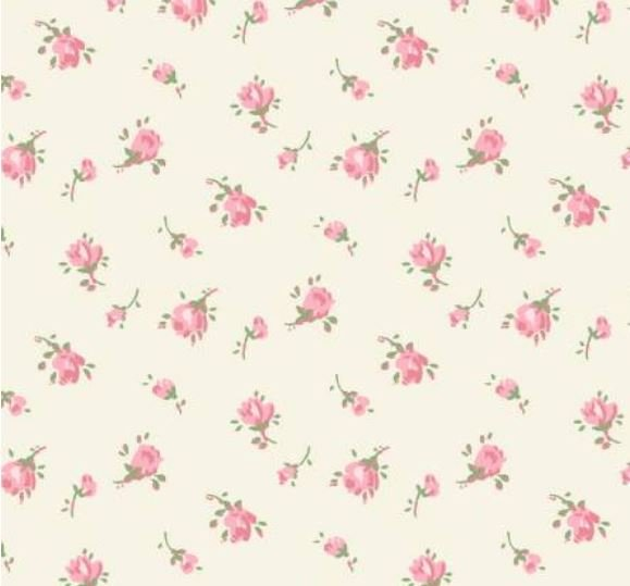 50941-2 Windham Roslyn Tiny Cream Roses