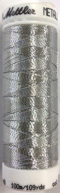 7633-0511 Mettler 55 % Polyester Metalic 40 wt 109 yards Thread 220 yards Silver