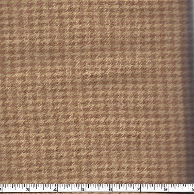 54811-27 Moda Wool Independance Trail 54 Wide Tan Houndstooth 100% Wool