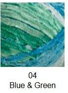 560-04 Cascade  Pluscious Blue & Green Varigated