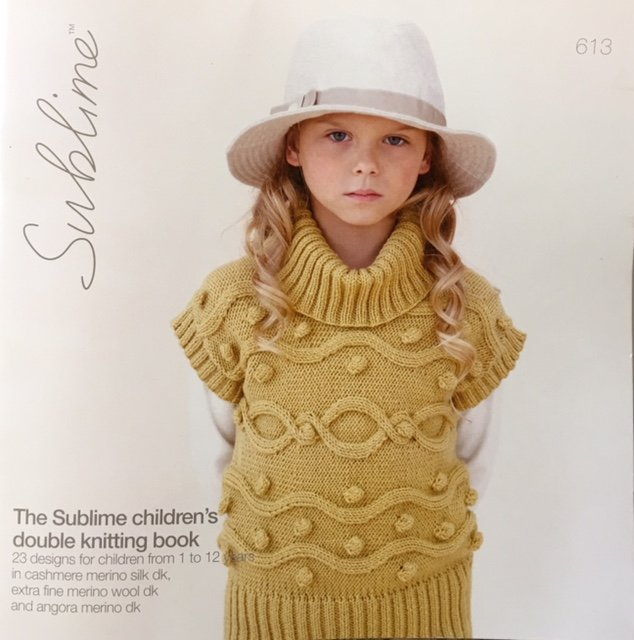 S613 Euro Sublime The Sublime children's double knitting book 23 designs for children from 1 to 12 years