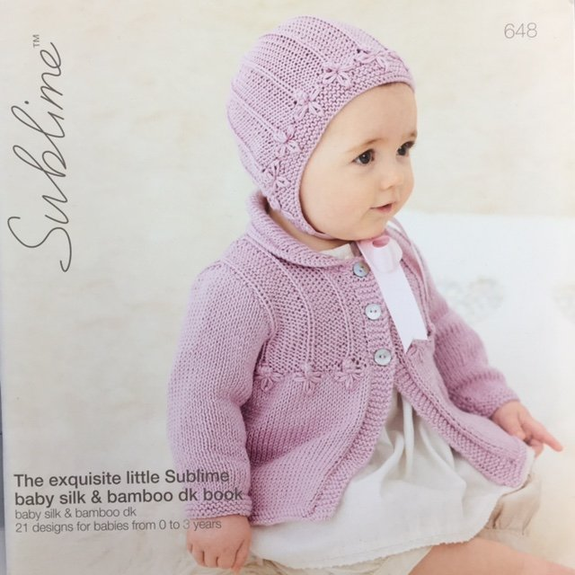 648 Euro Sublime The exquisite little Sublime baby silk & bamboo dk book 21 designs from 0 to 3 years