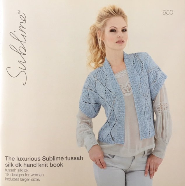 650 Euro Sublime The lustros tussah silk dk hand knit book
