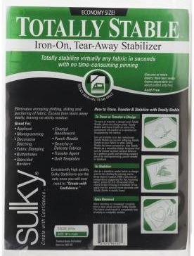661-03 Sulky Stabilizer Totaly Stable Iron-On Tear Away 20 by 36 White