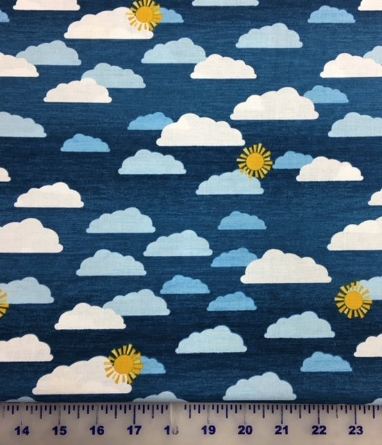 68417-445 Wilmington Prints Let's Go Glamping Blue Clouds