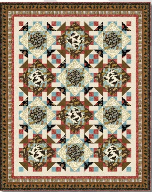 690KIT Henry Glass  Rodeo Roundup Quilt 2  64 x 80